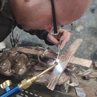 via crucis gerusalemme realizzazione formelle in bronzo - 4