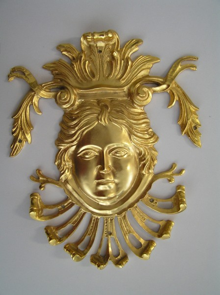 Face shape furniture frieze - art bronze sculpture