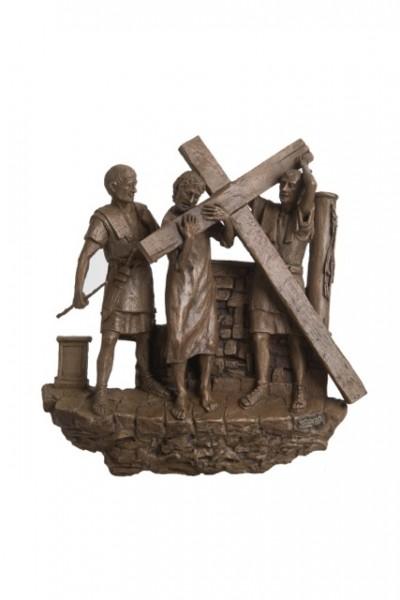 Vendita stazioni via crucis- seconda stazione via crucis: gesù è caricato della croce
