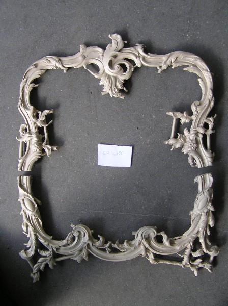 art bronze sculpture - barocco style furnitur frame frieze