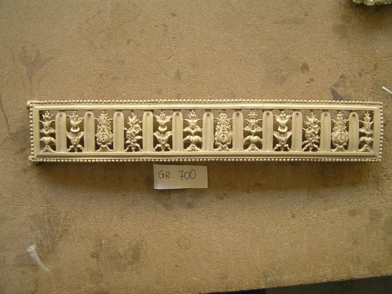 Rectangular shape furniture frieze - art bronze sculpture