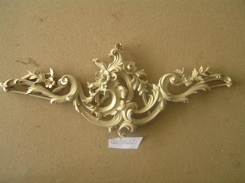 arte bronzo - fregio mobile decorazioni floreali