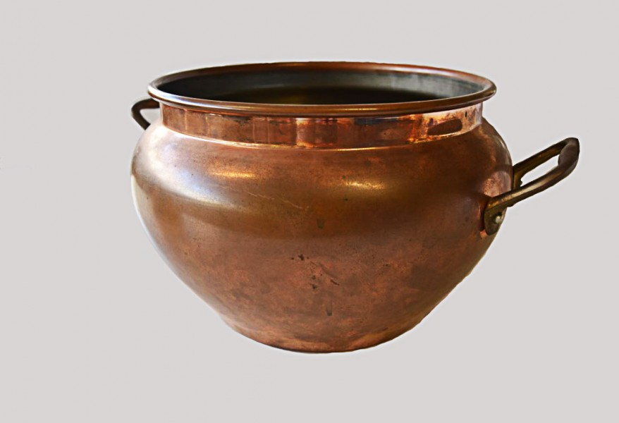 Copper bowl - bronze and copper metal work