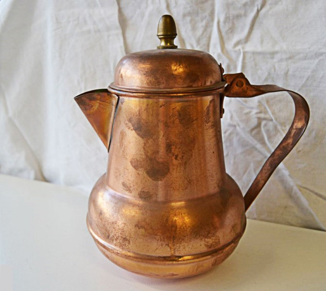 coppe-pitcher - bronze and copper metal work