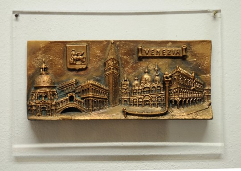 arte bronzo - bassorilievo in bronzo città di venezia