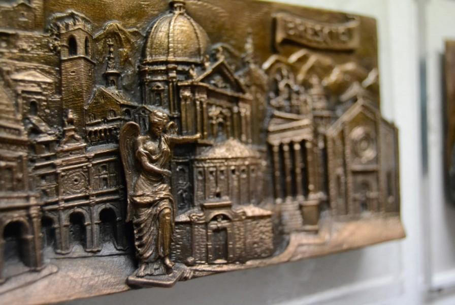 art bronze sculpture - bas-relief city of brescia