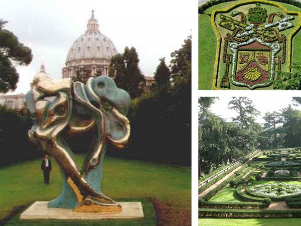 art bronze sculpture - Tree of humanity in Vatican Garden