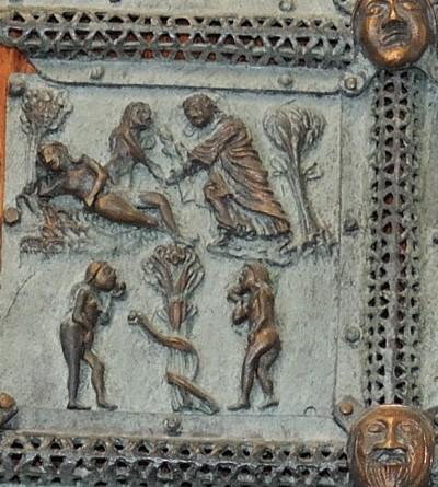 Formella di San Zeno - creazione di eva
