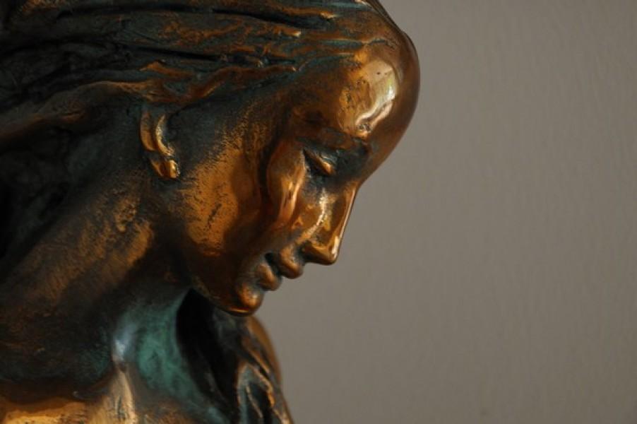 arte bronzo - scultura in bronzo dorato