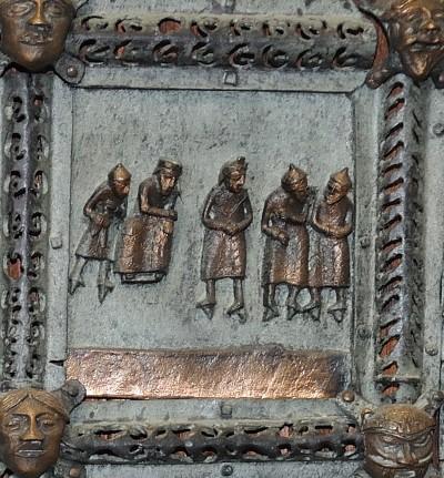 Formella di San Zeno - gesù davanti ad erode