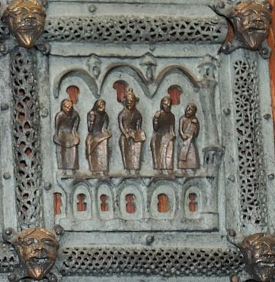 Formella di San Zeno - gesù tra gli evangelisti