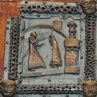 Formella di San Zeno - annunciazione di cristo