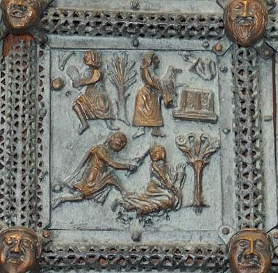 Formella di San Zeno - caino e abele