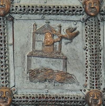 Formella di San Zeno - colomba di noè