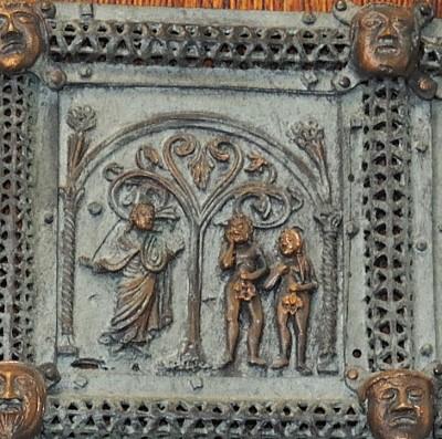 Formella di San Zeno - condanna dei primogenitori