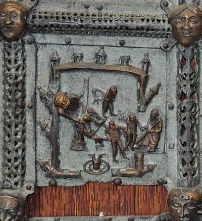 Formella di San Zeno - discesa al limbo
