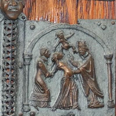 Formella di San Zeno - liberazione dell'ossessa