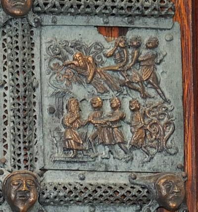 Formella di San Zeno - maledizione di cam