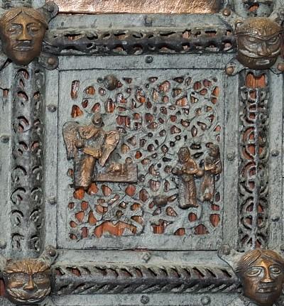 Formella di San Zeno - marie al sepolcro