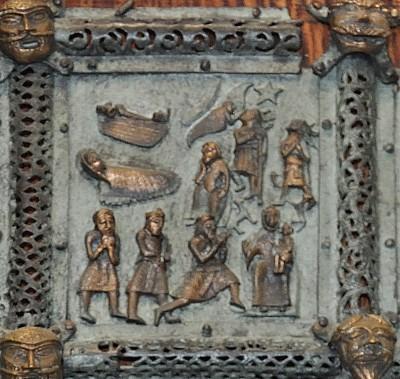 Formella di San Zeno - nascita dei pastori magi