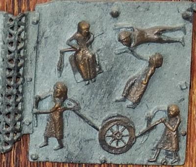 Formella di San Zeno - primi lavori e morte di abele