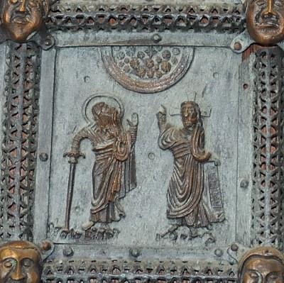 Formella di San Zeno - promessa di dio ad abramo