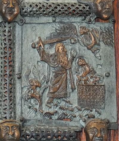 Formella di San Zeno - sacrificio di isacco