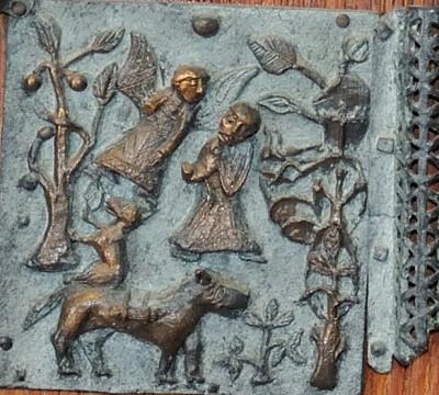 Formella di San Zeno - sacrificio di isacco_2