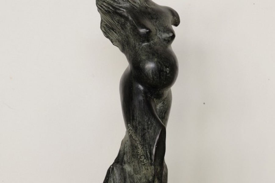 art bronze sculpture - Bronze sculpture pregnant woman