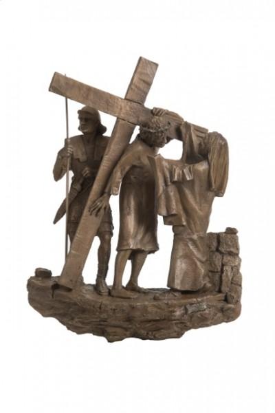 via crucis stazioni, bronzo, cera persa