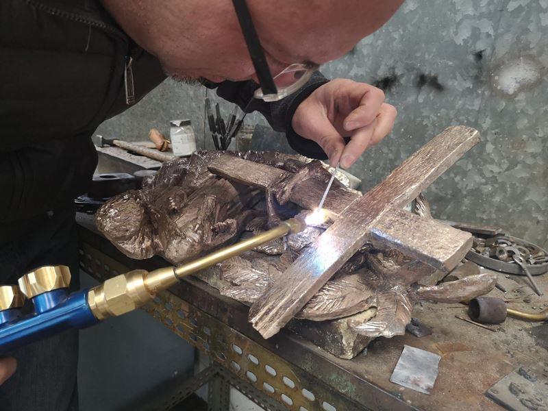 laboratorio fonderia artistica bronzo lost wax bronze - 21