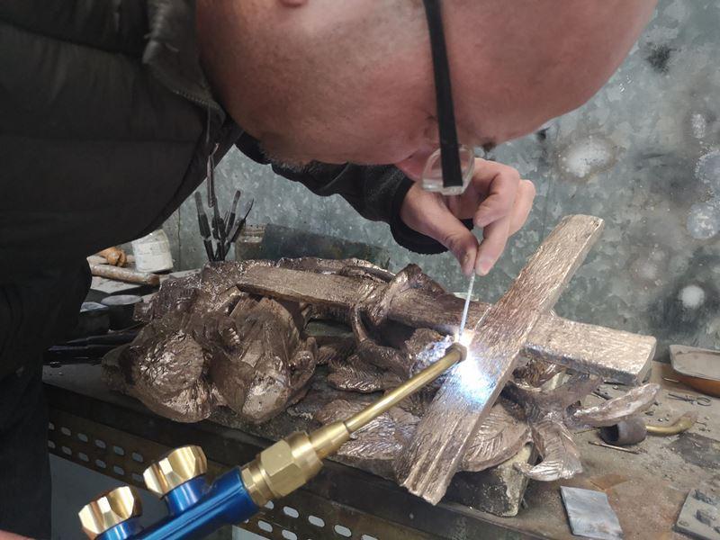 laboratorio fonderia artistica bronzo lost wax bronze - 22